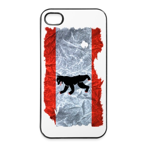 Berlin Flagge Shirt vintage used look - iPhone 4/4s Hard Case