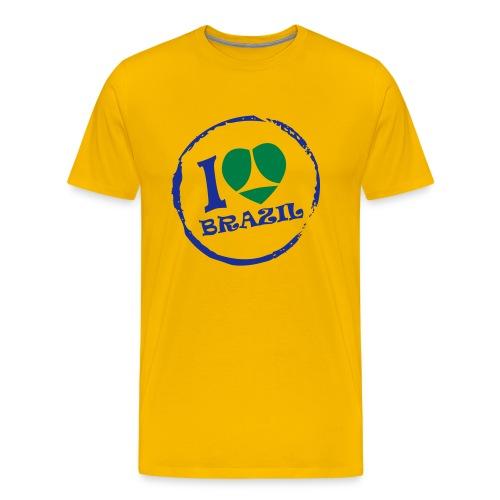 I love Brazil Homme - T-shirt Premium Homme