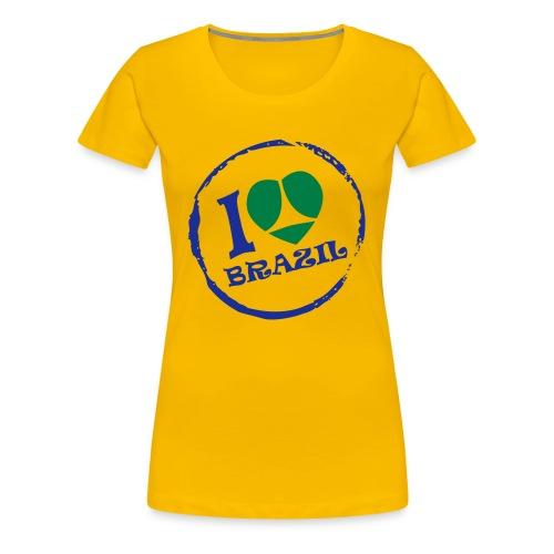I love Brazil Femme - T-shirt Premium Femme