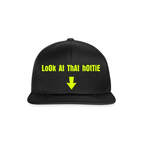 'LOOK AT THAT HOTTIE' snapback hat - Snapback Cap