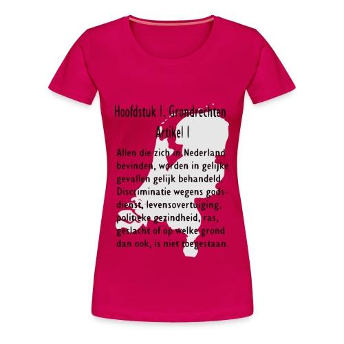 Grondwet - Vrouwen Premium T-shirt