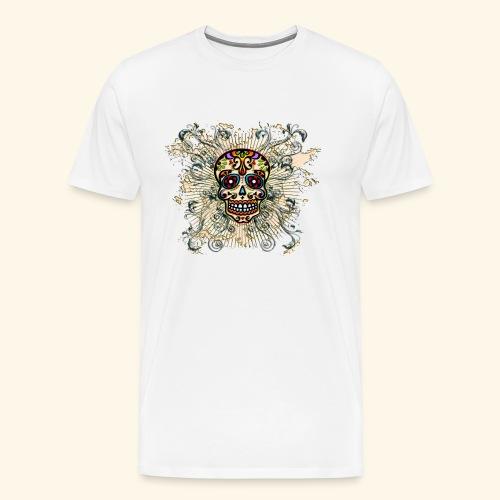 Fractal Skull - Miesten premium t-paita