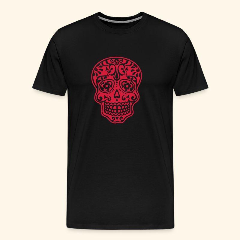 Mexican Skull - Miesten premium t-paita