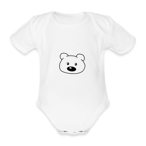 Baby Teddie - Organic Short-sleeved Baby Bodysuit
