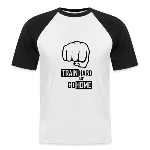Performance T Shirt - Train Hard and Go Home T Shirt (Black / White) - Men's Baseball T-Shirt