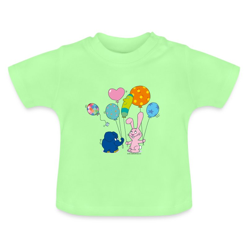 elefant und hase luftballons t shirt spreadshirt. Black Bedroom Furniture Sets. Home Design Ideas