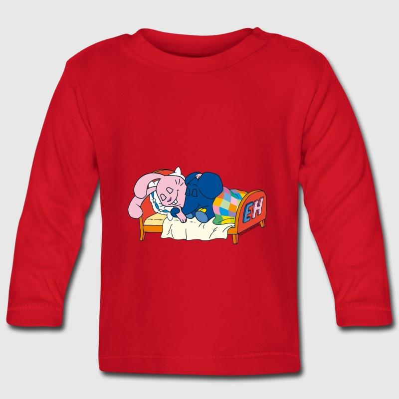 elefant und hase schlafen baby langarmshirt spreadshirt. Black Bedroom Furniture Sets. Home Design Ideas