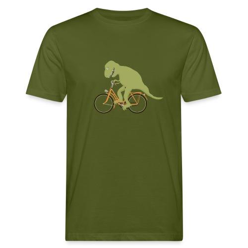 Dino auf Fahrrad - Männer Bio-T-Shirt