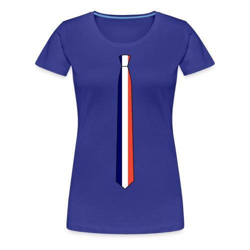 the français tie femelle - T-shirt Premium Femme