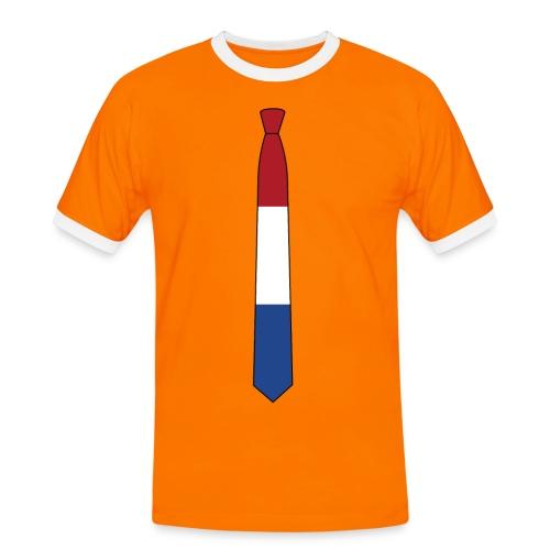 the Nederlands tie oranje - Mannen contrastshirt