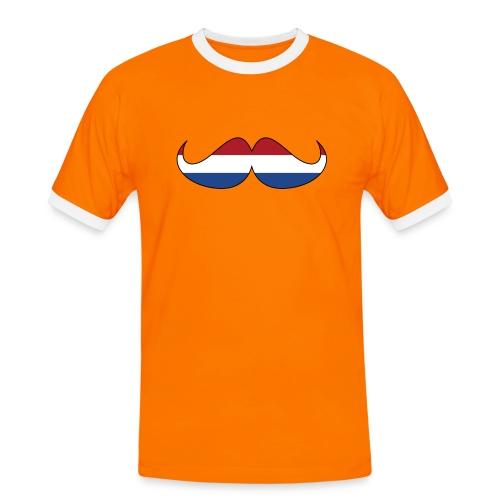 the Nederlands hipster oranje - Mannen contrastshirt