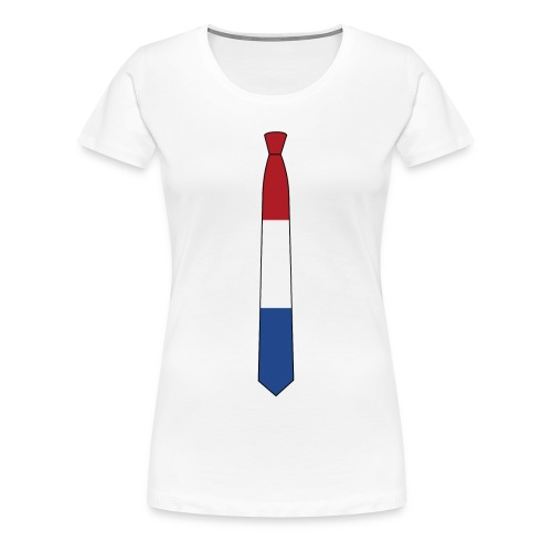 the Nederlands tie - Vrouwen Premium T-shirt