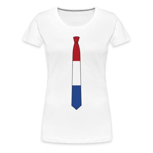 the Nederlands tie - Vrouwen Premium T-shirt