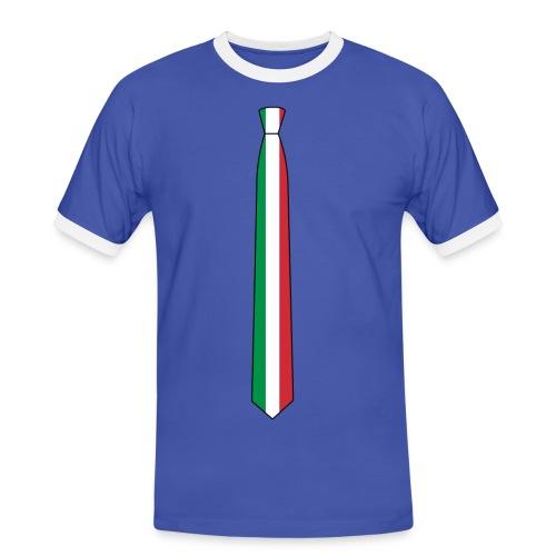 the Italia tie retro - Maglietta Contrast da uomo