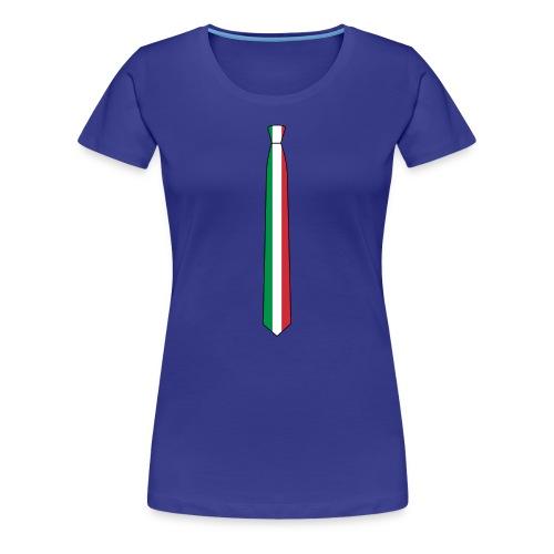 the Italia tie femminile - Maglietta Premium da donna
