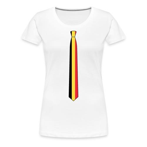 the België tie vrouw - Women's Premium T-Shirt