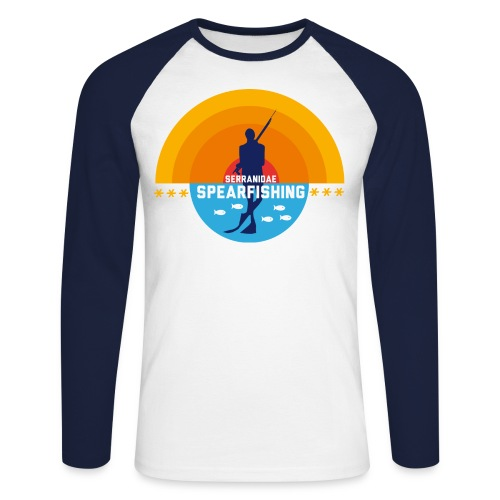 T-shirt baseball manches longues Homme - spearfishing fun cool chasse sous marine