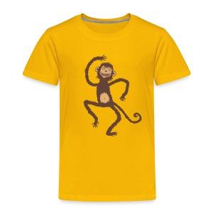 Affe (zweifarbig) - Kinder Premium T-Shirt