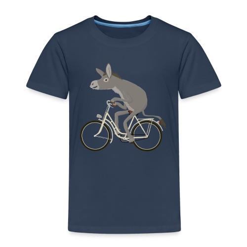 Esel fährt Drahtesel - Kinder Premium T-Shirt