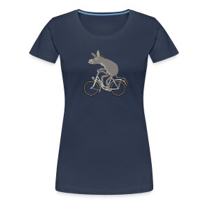 Esel fährt Drahtesel - Frauen Premium T-Shirt