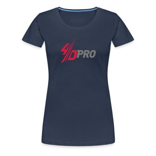 4D PRO Frauen Girlieshirt_ HARD WORK IS NOW HARD FUN - Frauen Premium T-Shirt