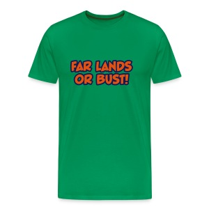 Far Lands or Bust Logo Men's - Men's Premium T-Shirt