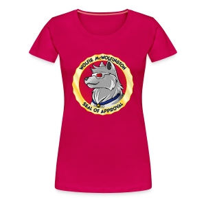 Wolfie McWolfington Seal of Approval Women's - Women's Premium T-Shirt