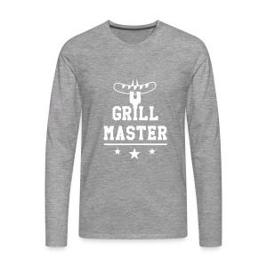Grill Master trois étoiles - T-shirt manches longues Premium Homme