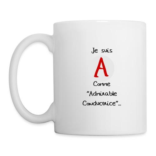 Tasse d'Admirable Conductrice - Mug blanc
