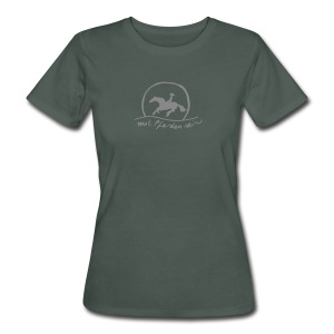 Sunset Rider - Silverprint - Bio Shirt for Ladys (Print: Silver Glitter) - Frauen Bio-T-Shirt
