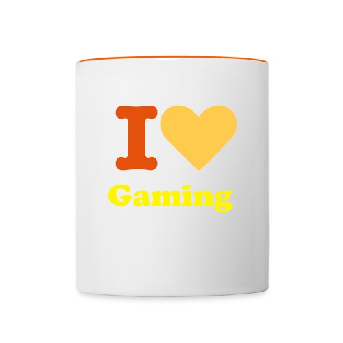 I Love Gaming Mug - Contrasting Mug