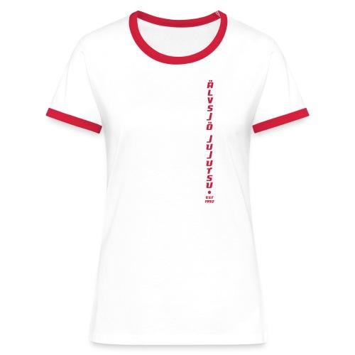Klubbtröja, två-färgad - Kontrast-T-shirt dam