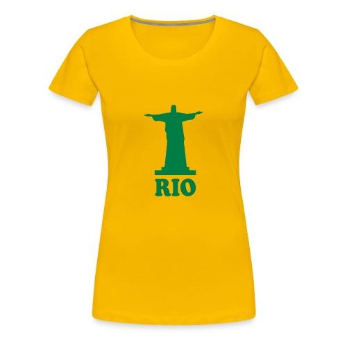 Jesus Rio Ladies Brazil T Shirt - Women's Premium T-Shirt