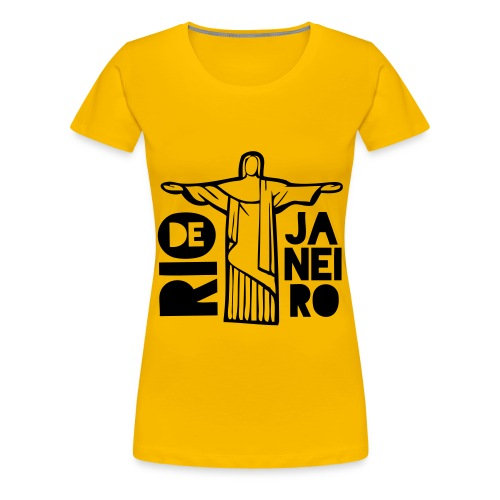 Rio Jesus Ladies T Shirt - Women's Premium T-Shirt