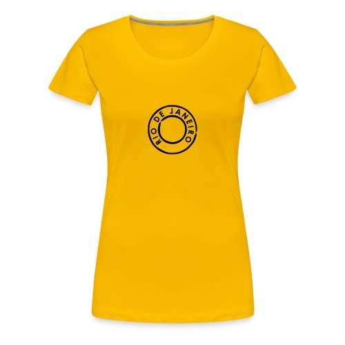Rio De Janeiro Print Ladies Brazil T Shirt - Women's Premium T-Shirt
