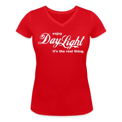 daylight - Women's Organic V-Neck T-Shirt by Stanley & Stella