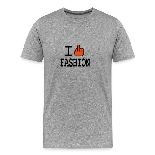 FASHION T-SHIRT I F*CK FASHION - Men's Premium T-Shirt