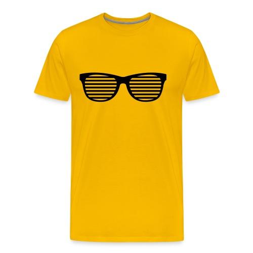 FASHION T-SHIRT YELLOW GLASSES - Men's Premium T-Shirt