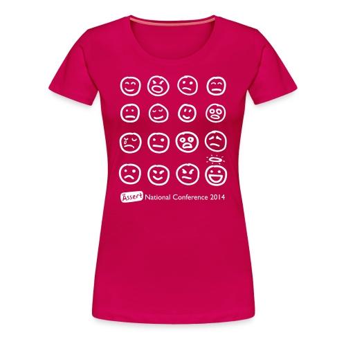 Women's conference '14 shirt (white text) - Women's Premium T-Shirt