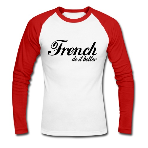 Tee shirt manches longues Homme - T-shirt baseball manches longues Homme