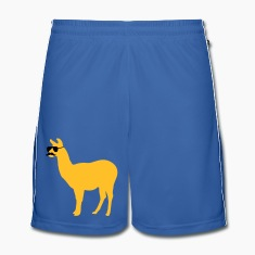 Funny llama with sunglasses and mustache Trousers & Shorts