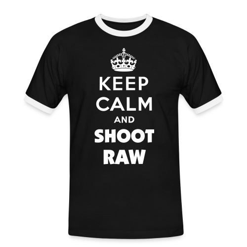Keep calm and shoot RAW  - Männer Kontrast-T-Shirt