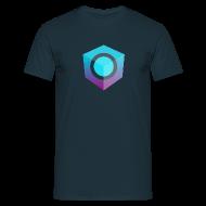 T-Shirts ~ Men's T-Shirt ~ Blue Logo-Only T-Shirt (Regular Edition)