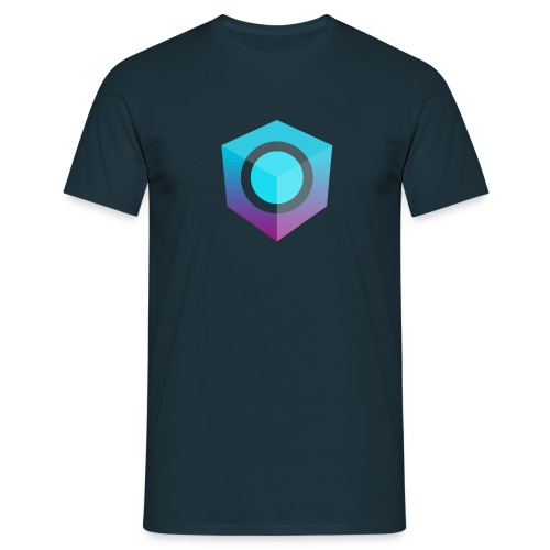 Blue Logo-Only T-Shirt (Regular Edition) - Men's T-Shirt