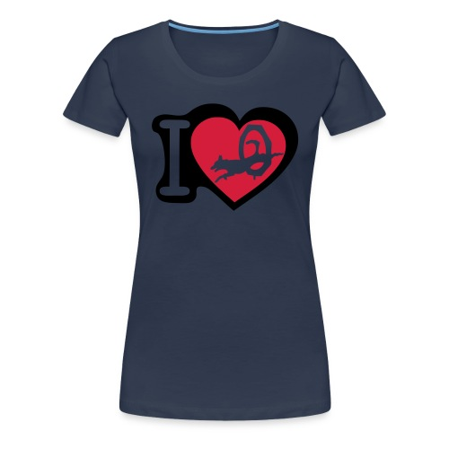 I love agility - Dame premium T-shirt