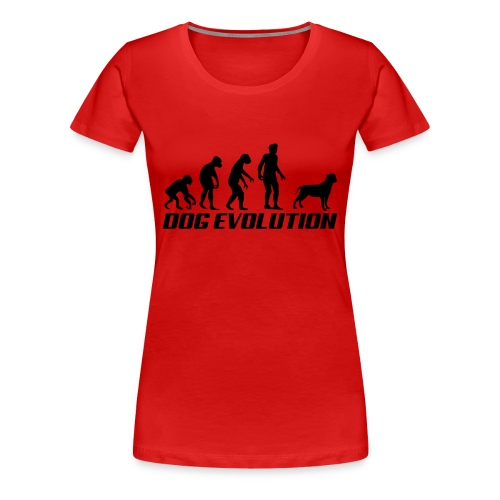 Dog Evolution - Dame premium T-shirt