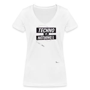 Techno or nothing - T-shirt ecologica da donna con scollo a V di Stanley & Stella