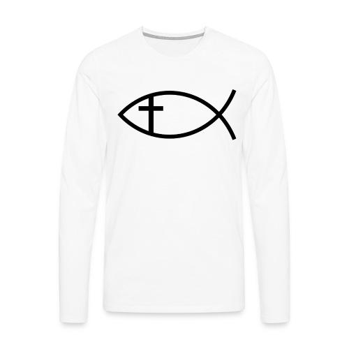 Maglia con simboli cristiani 2 - Maglietta Premium a manica lunga da uomo