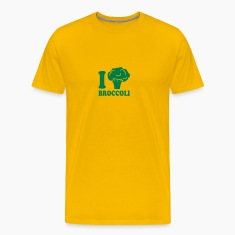 I love broccoli vegetable logo T-Shirts