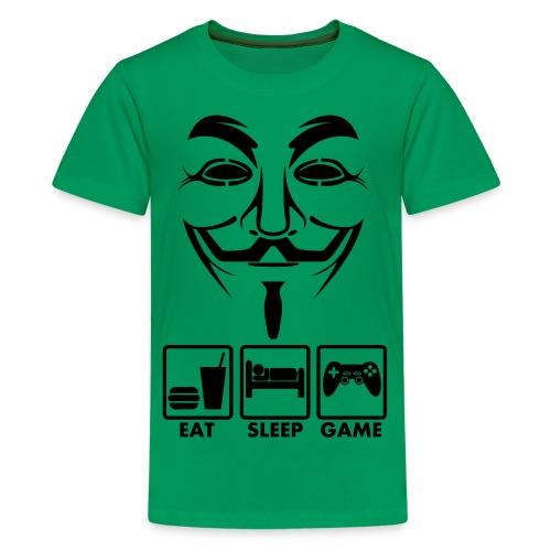 Eat Sleep Game - Teenager premium T-shirt